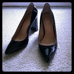 Banana Republic patent leather block heels